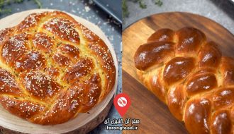 آشپزی خانگی فیلم آموزش پخت نان شیرمال گیسو (چالا , خالا)