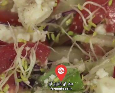 آشپزی با واه : فیلم آموزش خمیر رول شده با پنیر هندی و سبزیجات