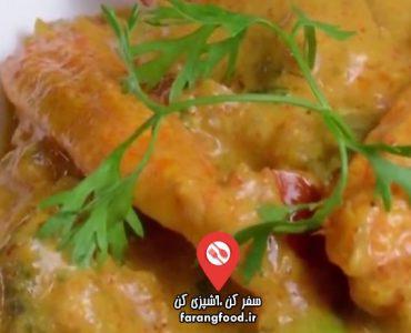 آشپزی با واه : فیلم آموزش خوراک ذرت و قارچ با سس گوجه و پیاز